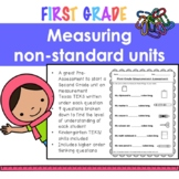 First Grade Measurement Assessment - Measuring with Non-Standard Units