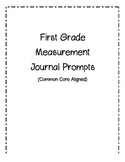 First Grade Measurement Journal Pages