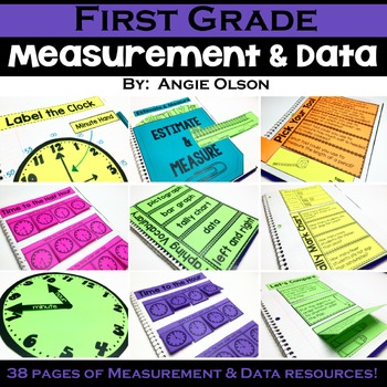 First Grade Measurement and Data Interactive Notebook