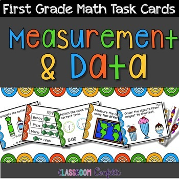First Grade Measurement and Data Task Cards