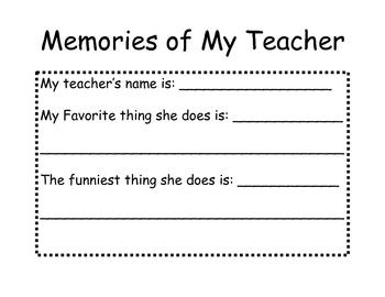 First Grade Memories Book