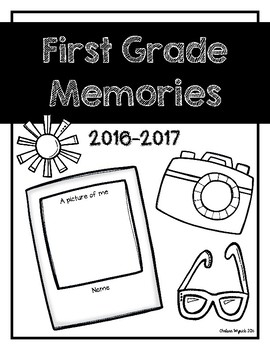 First Grade Memories Book Cover Page