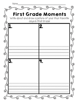 First Grade Memories- End of the year activities and memory book