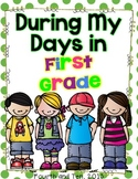 First Grade Memory Book {During my Days in First Grade}
