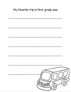 First Grade Memory Book - ENGLISH and SPANISH