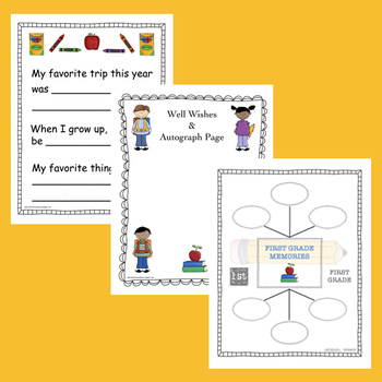 First Grade Memory Book  (End of the Year Activity)