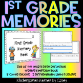 First Grade Memory Book - NO PREP End of the Year Reflection Writing Keepsake