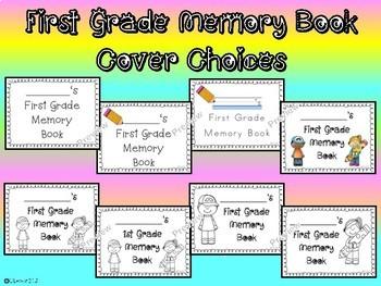 First Grade Memory Book - NO PREP End of the Year Reflection Writing Keepsake