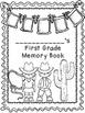 First Grade Memory Book- Western Theme
