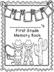 First Grade Memory Book- Western Theme
