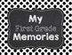 Memory Book for 1st Grade End of the Year