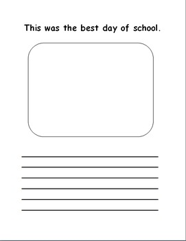 First Grade Memory Book for End of Year