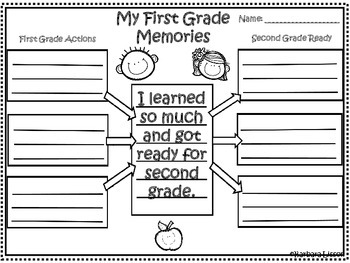 First Grade Memory Book for the End of the Year