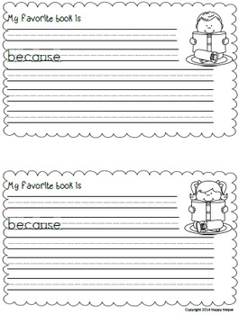 K-2 Memory Book End of Year Writing