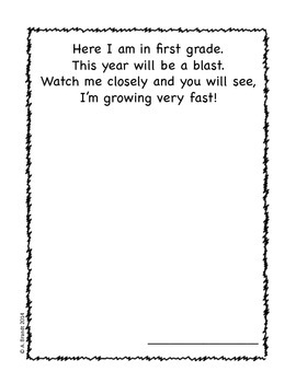 First Grade Memory/Yearbook