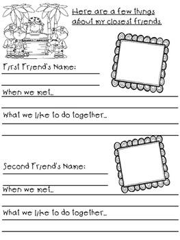 First Grade Memories and Treasures