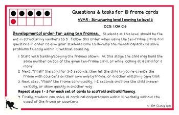 First Grade Mental Math BUNDLED SET - Fluency to Ten Cards and Questions