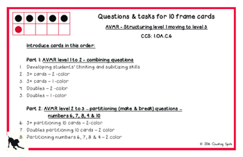 First Grade Mental Math PART 1 - Fluency to Ten Cards and Questions