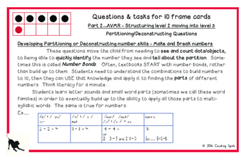 First Grade Mental Math PART 2 - Fluency to Ten Cards and Questions