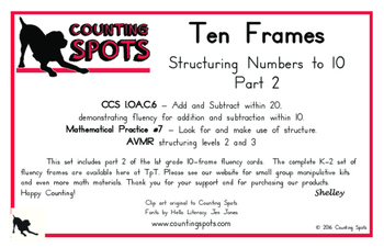 First Grade Mental Math PART 2 - Fluency to Ten Cards and