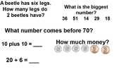 First Grade Mental Math Warm-up