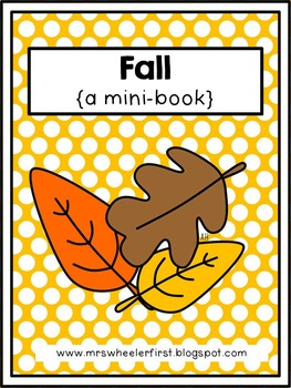 First Grade Mini Book: Fall