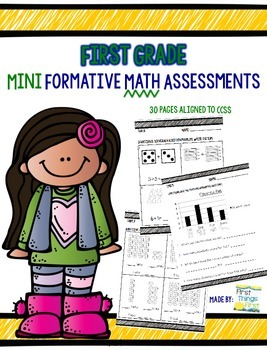 First Grade Mini Formative Math Assessments