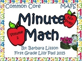 First Grade Minute Math Daily Challenges NO-PREP: Vol. 2