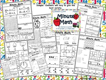 First Grade Minute Math Daily Challenges NO-PREP: Vol. 3