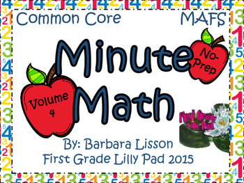First Grade Minute Math Daily Challenges NO-PREP: Vol. 4