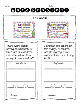 Mixed Addition And Subtraction Word Problems Worksheet' | TpT