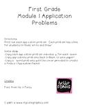 First Grade Module 1 Application Problems