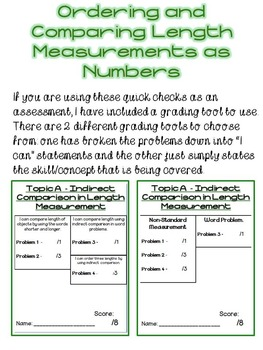First Grade Math Module 3 Quick Checks