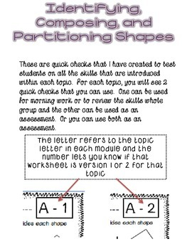 First Grade Math Module 5 Quick Checks