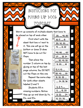 First Grade Module Four Math Lap Book