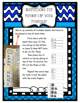 First Grade Module One Math Lap Book