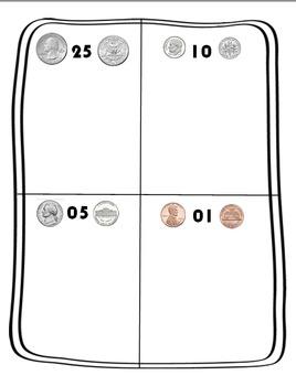 First Grade Money Mat