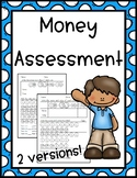 First Grade Money Test