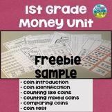 First Grade Money Unit Freebie Sample