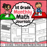 Monthly Word Problems First Grade Journal Bundle