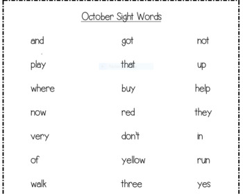 First Grade Monthly Sight Word PowerPoints & Tracking Sheets for the YEAR