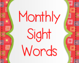 First Grade Monthly Sight Word PowerPoints & Tracking Shee