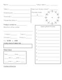 First Grade Morning Math / Daily Work