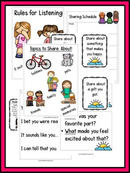 First Grade:  Morning Meeting Sharing