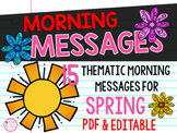 First Grade Morning Messages {15 Spring Themes}