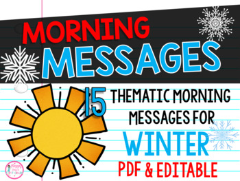 First Grade Morning Messages {15 Winter Themes}