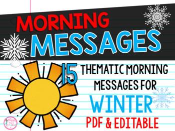 First Grade Morning Message Center {15 Winter Themes}
