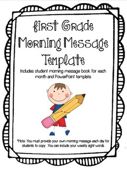 First Grade Morning Message and Morning Work