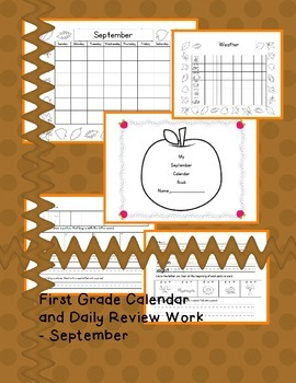 First Grade Morning Review/Weather/Calendar Book