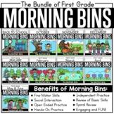 First Grade Morning Tubs / Bins The Bundle (Morning Work)